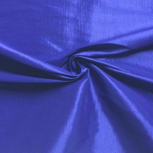 (Medium/Light Weight Stretch Taffeta Fabric By The Yard (Royal Blue)