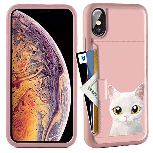 ZVE Wallet Case for Apple iPhone Xs and X, 5.8 inch, Wallet Case with Credit Card Holder Slot Slim Leather Pocket Protective Case Cover for Apple iPhone Xs and X 5.8 inch (Aries Series)- Cat 1