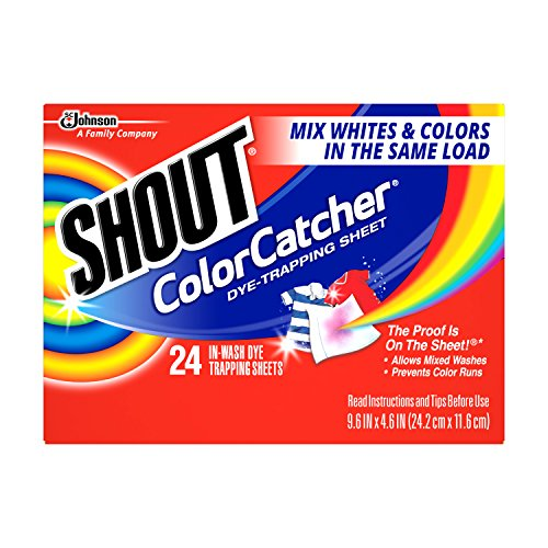Shout Color Catcher, In-Wash Cloths, 24 cloths