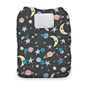 Thirsties One Size All in One Cloth Diaper, Hook & Loop Closure, Stargazer
