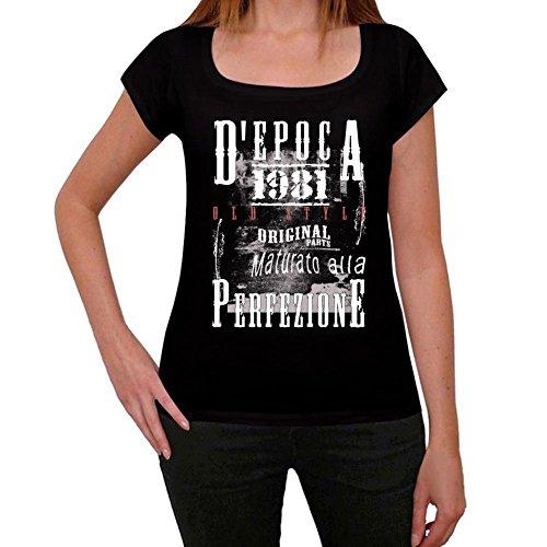 1981, vintage camiseta, camiseta cumpleaños, camiseta regalo negro