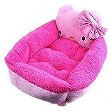 Rachel Pet Products Cartoon Animal Fleece Pet Beds - Pink Large
