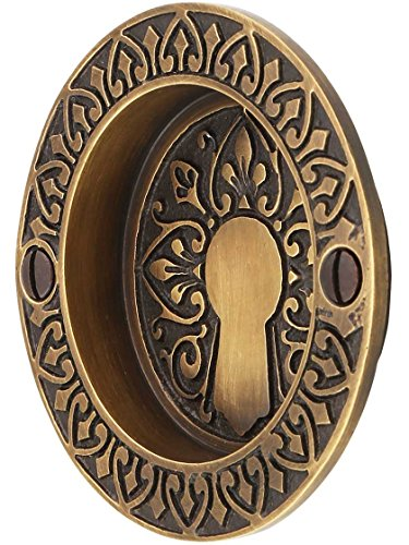 Pull 114 (House of Antique Hardware R-06DE-114-ABH Ornate Flush Door Pull in Antique-By-Hand Finish)