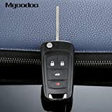 Daphot-Store - 4 Button Flip Folding Remote Key Case Shell Replacement Entry Fob For Buick LaCrosse Regal Verano GMC Terrain Car Covers