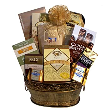 Great Gifts Baskets Premium Bounty: Chocolate Toffee Cookie Brittle, California Pistachios, Nutty Pleasures