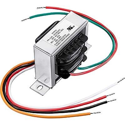 Control Transformer 40VA, Primary 120, 208, 240V Secondary 24V, HVAC Furnace Multi Tap