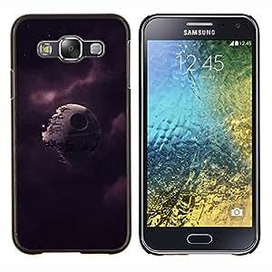 Jordan Colourful Shop - Broken Death Star For Samsung Galaxy E5 E500 Personalizado negro cubierta de la caja de pl????stico