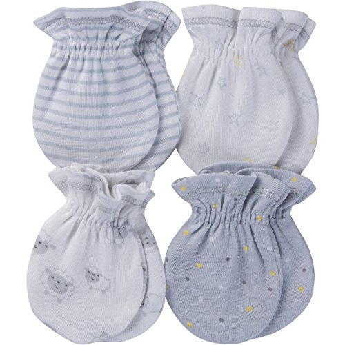 Gerber Baby Girls' 4-Pair Mittens
