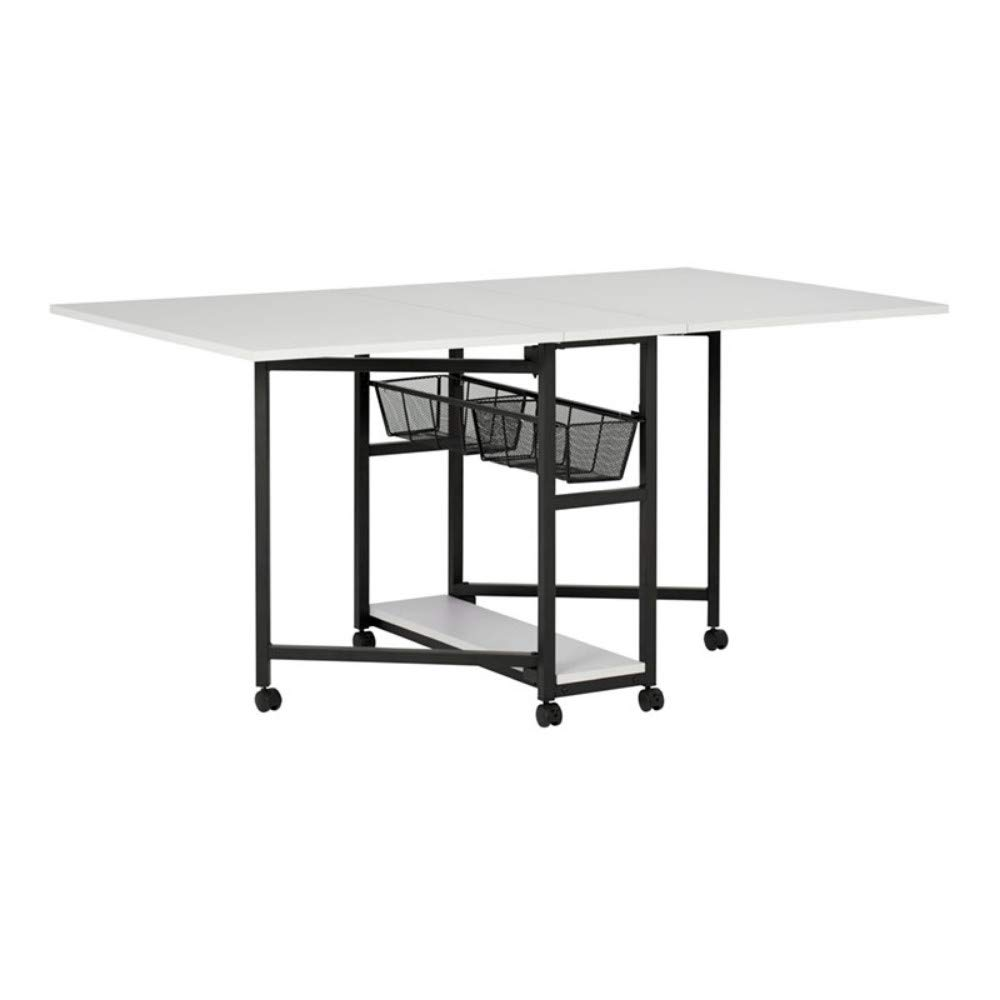 Offex Folding Height Adjustable Table - A model that offers great storage options and is fully customizable