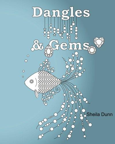 Dangles Gems Adult Coloring Book
