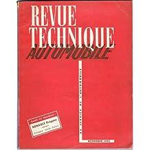 Revue Technique Automobile n°91 de novembre 1953 Renault Frégate et Salon utilitaire