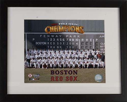 Boston Red Sox 2004 World Series Champions Formal Team Photo 12.5 x 15.5 Framed