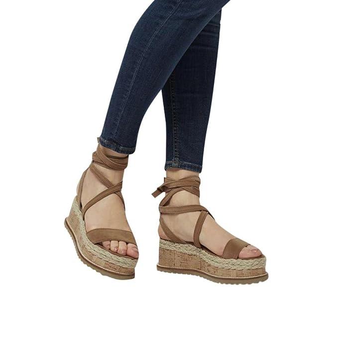 e2b6e8a944f0 UOMOGO® Vintage Sandali Estivi Scarpe con Sandali Donna