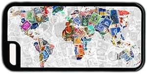 Stamp Design World Map Theme Iphone 5c Case