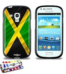 Carcasa Flexible Ultra-Slim SAMSUNG GALAXY S3 MINI de exclusivo motivo [Jamaica Bandera] [Negra] de MUZZANO  + ESTILETE y PAÑO MUZZANO REGALADOS - La Protección Antigolpes ULTIMA, ELEGANTE Y DURADERA para su SAMSUNG GALAXY S3 MINI