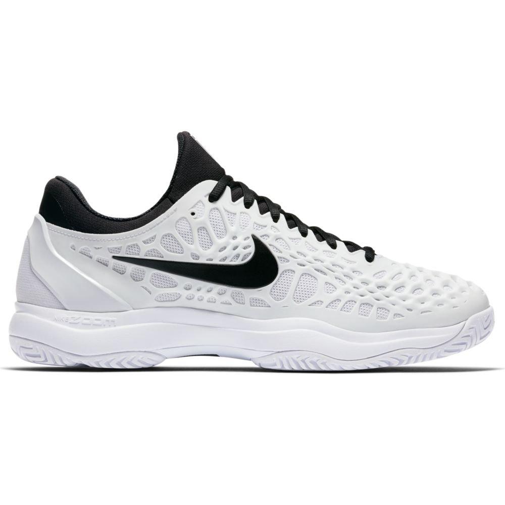 Nike Mens B003FO6A34 Zoom Cage 3 Tennis Shoes B003FO6A34 Mens 10.5 M US|White/Black aab168