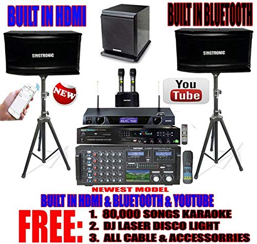 SIGTRONIC Complete 2600 Watts Professional Karaoke System package with free 80,000 Songs.
