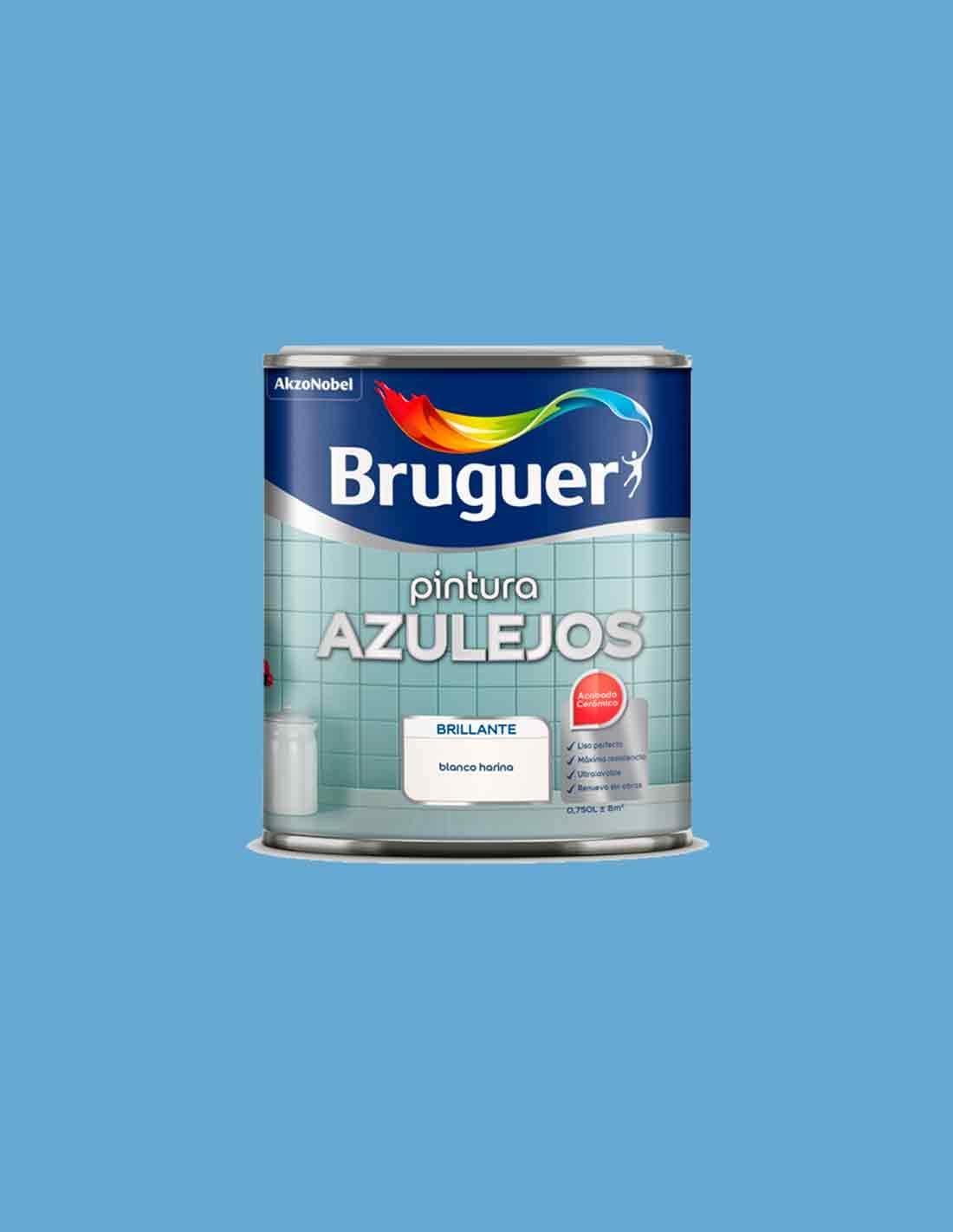 BRUGUER 5075280 Esmalte Azulejos Azul Pacifico 750 ML: Amazon.es: Jardín