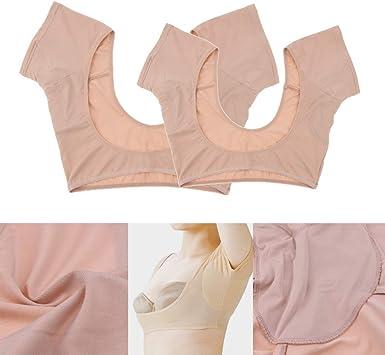 Jolie Sweat Pads Mujer Camiseta con Almohadillas Sudor de Las Axilas Almohadillas absorbentes de transpiración Ropa Interior Chaleco Lavable 2 Piezas