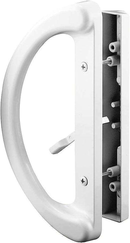 8 Piezas Manija Autoadhesiva para Puertas y Ventanas Puertas Corredizas Manija de Puerta Autoadhesiva Tiradores Adhesivos para Gabinetes y Cajones Blanco + Gris Frigor/íficos