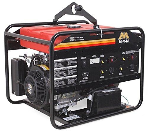 Mi-T-M GEN-6000-0MS0 Gasoline Generator, 6000W Maximum AC Output