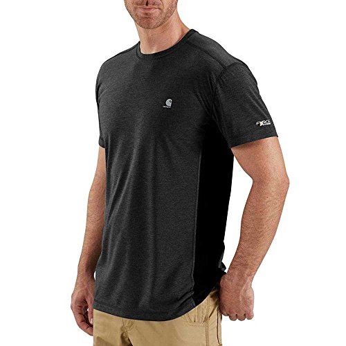 Carhartt Men's 102960 Force Extremes Short Sleeve T-Shirt - X-Large Regular - Black/Black - Carhartt T-shirt Dry Work
