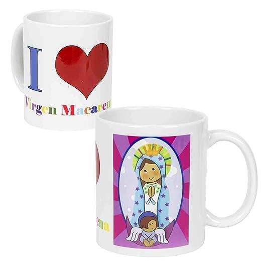 Lote de 6 Tazas Religiosas de Porcelana Decorativas