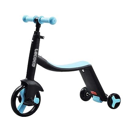 Patinetes clásicos Scooter 3-en-1 para niños pequeños, niños Ajustables Kick Scooter