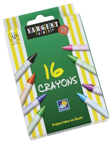 (Sargent Art 55-0916 16-Count Regular Crayon, Peggable)