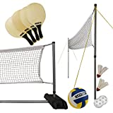 Lifetime 90541 Volleyball, Badminton, & Pickleball Set