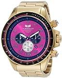 Vestal Men's ZR3016 ZR-3 Gold and Purple Chronograph Watch, Watch Central