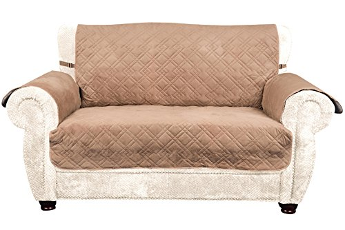 Quilted Suede Loveseat Slipcover (INNX Quilted Microfiber Suede Canine Sofa/Couch Covers for Dogs, Cats Pet Nonslip Chair Loveseat Sofa Slipcovers Kids Sofa Protectors (Sofa cover, Loveseat,)