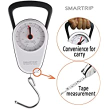 Smartrip Portable Stop and Lock Manual Luggage Scale Fishing Hook Hanging Scale with Built-In Tape Measure