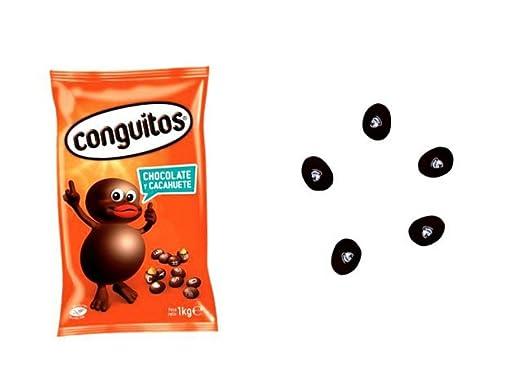 Lote de 2 kilos de Conguitos Negros con Chocolate ...