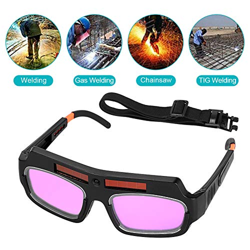 Solar Auto Darkening Welding Goggle Safety Protective Welder Welding Glasses Mask Helmet Eyes Goggles Mask Professional PC Lens with Adjustable Shade Anti-Flog Anti-glare Goggles