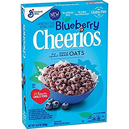 Cereal Blueberry Cheerios, sin gluten, 10.9 oz (2 unidades ...