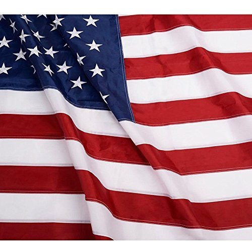 Embroidered Nylon American Flag - 5