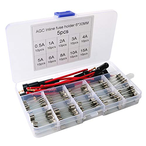Used, ARTGEAR 5pcs 6x30mm AGC Fuse Holder Inline Screw Type for sale  Delivered anywhere in Canada