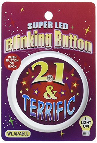 Beistle BL028 21 and Terrific Blinking Button, 2-Inch