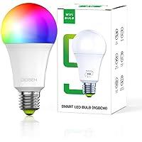 Bombilla Foco Inteligente OIOSEN, RGBCW Wi-Fi 9W foco multicolor compatible con Alexa y Google Home