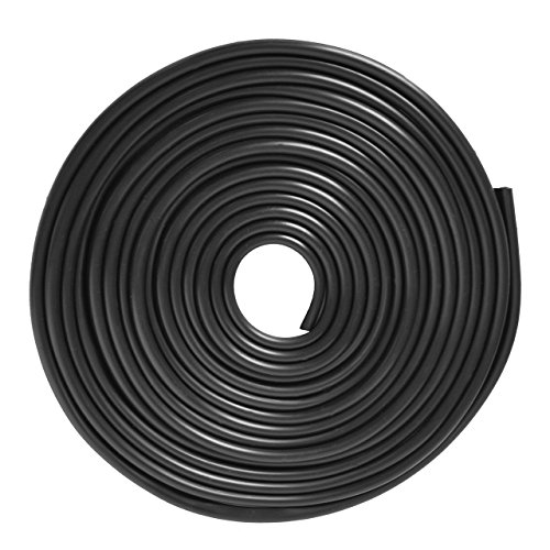 16Ft (5M) Car Edge Door Trim Seal Protector, ECLEAR Moulding Anti Scratch Rubber Strip Guard Cover For Universal Vehicle SUV,Black