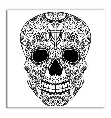 - Amazon.com: Sugar Skull Coloring Canvas For Adults, Stretched Primed Canvas  8 X 8 Inches: Handmade