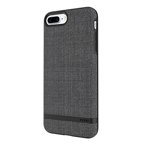 Incipio Carnaby iPhone 8 Plus & iPhone 7 Plus Case [Esquire Series] with Co-Molded Design and Ultra-Soft Cotton Finish for iPhone 8 Plus & iPhone 7 Plus - Gray ()