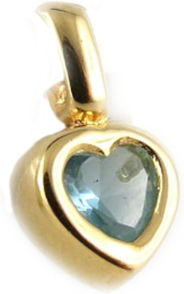 Pendant plated gold Coeur Cheri .