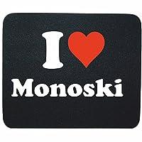 EXKLUSIV bei uns: Mousepad I Love Monoski in Schwarz, eine tolle Geschenkidee...