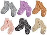 Unisex Baby Socks-Cute Infant Non-Slip Cotton Cozy Socks for Baby Toddler Kids-0-36 Months 6 -Pairs