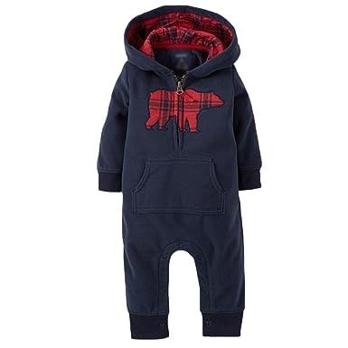 dc21fecbab02 Amazon.com  Infant Baby Christmas Reindeer Romper Warm Jumpsuit ...