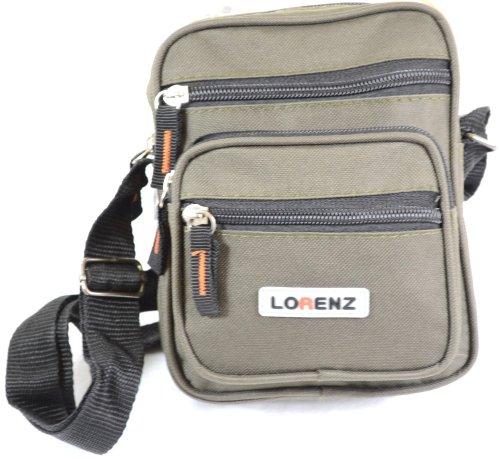 Lorenz - Bolso al hombro para hombre verde - verde oliva