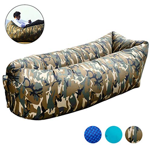 (ZXC Inflatable Sofa Multifunction Lazy Outdoor Air Sofa Convenience Durable for Indoor, Garden and Camping Activities,Variegated)