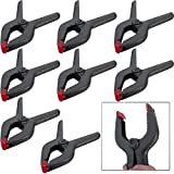 8 Pack 9 Inch Heavy Duty Plastic Nylon Spring Clamp EXTRA LARGE Clip Tips For Photography Background Plate